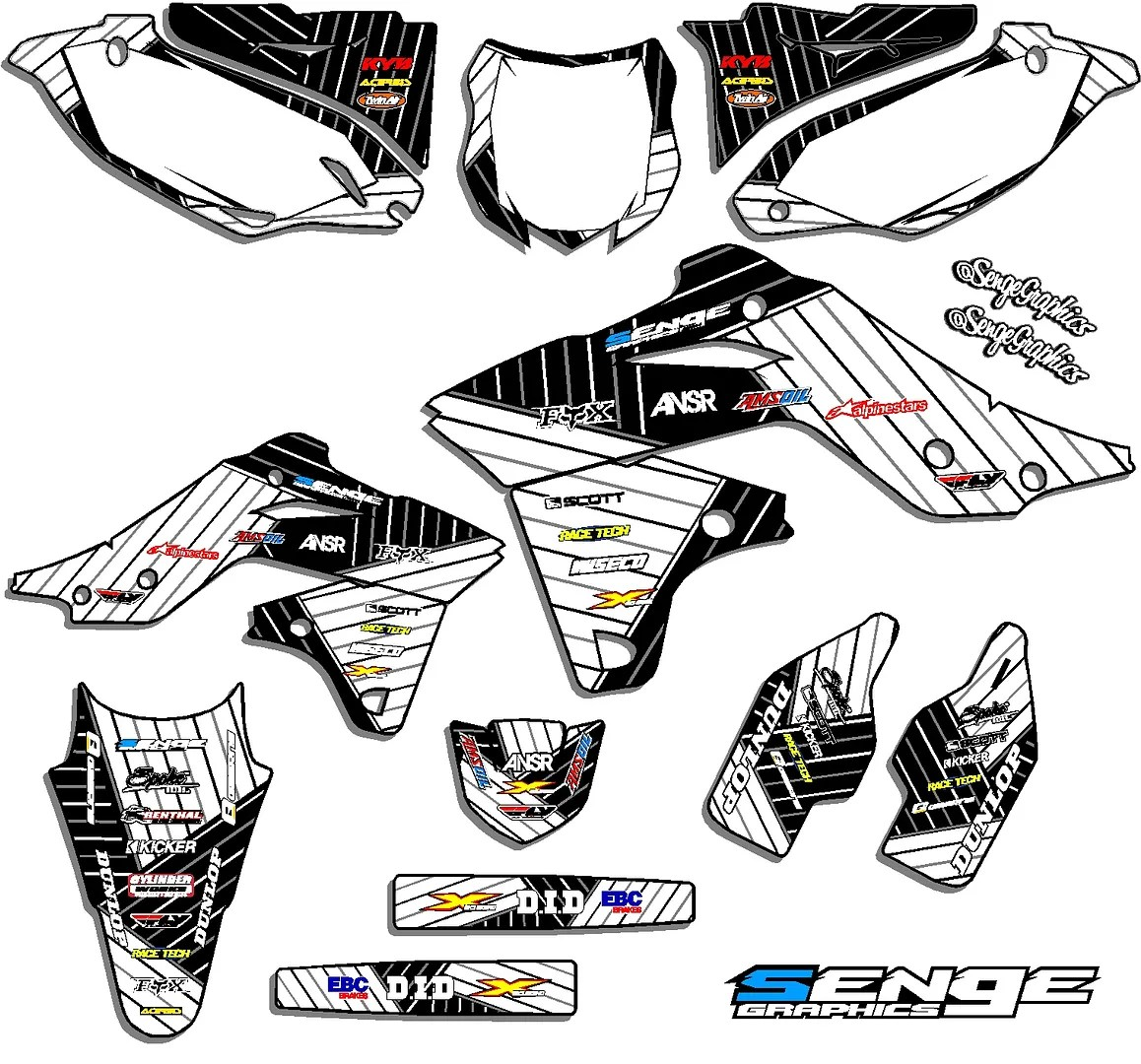 Kx 125 250 Graphics Kit Kawasaki Kx125