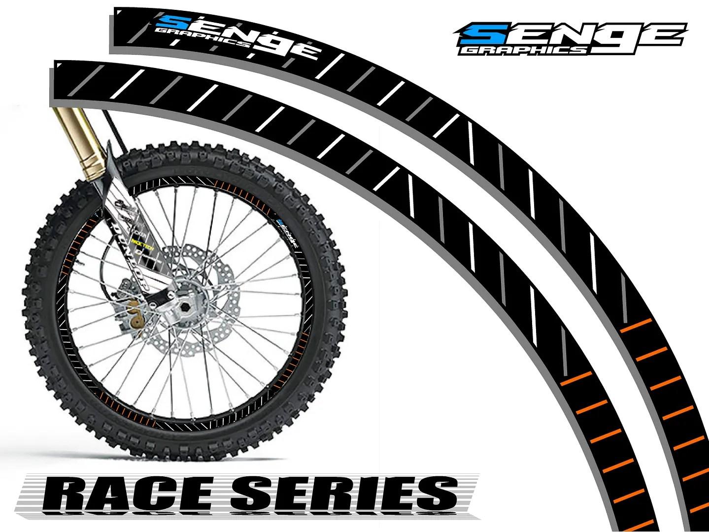 17 Amp 17 Inch Dirt Bike Rim Protectors Wheel Decals Tape