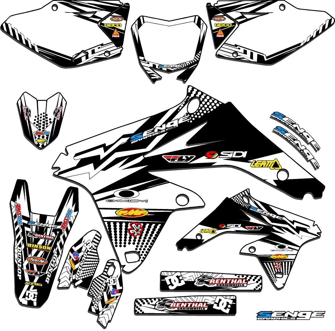Rmz 250 Graphics Kit Suzuki Rmz250 07 08 09