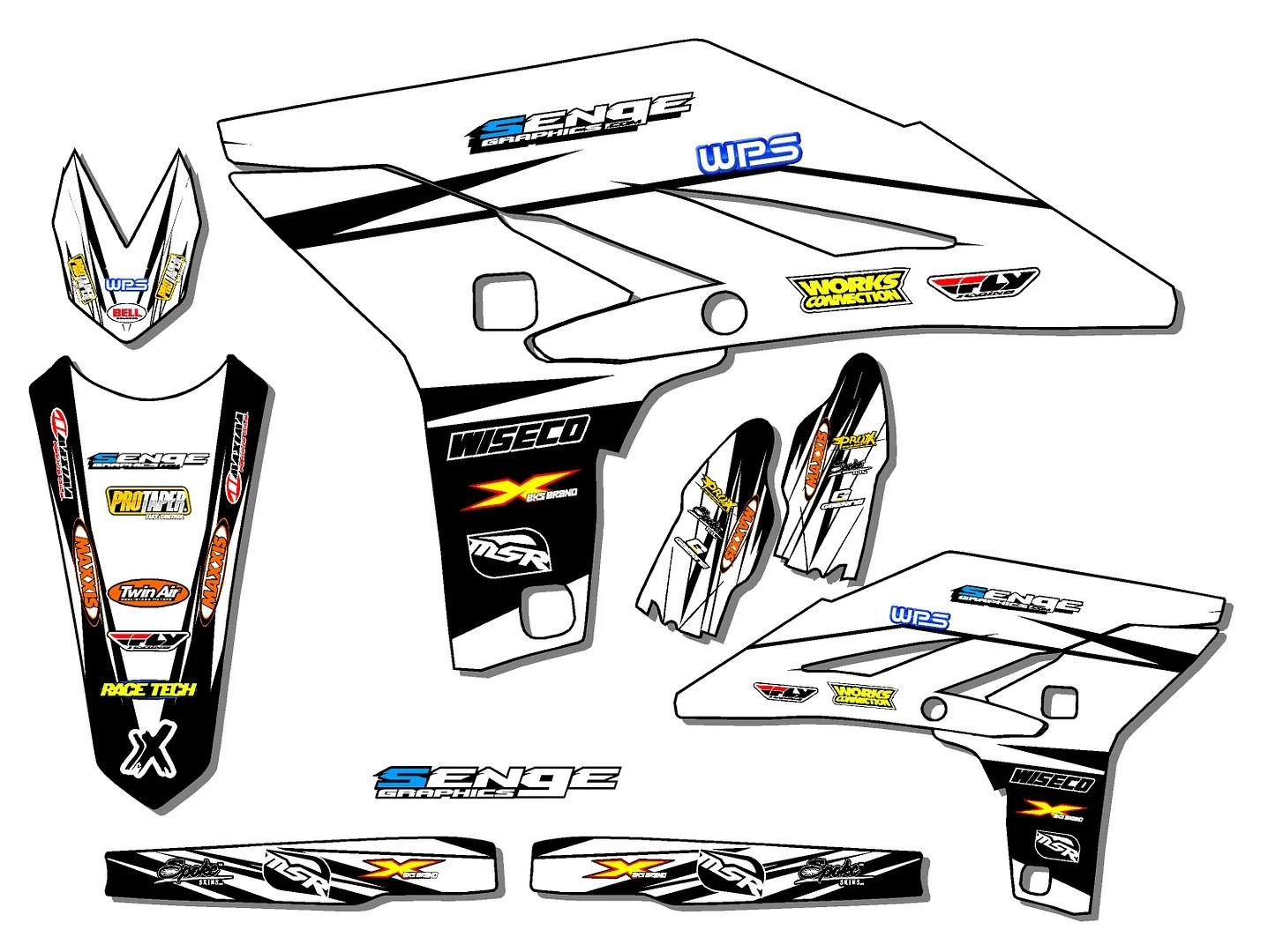 Yz 125 250 Graphics Kit Yamaha Yz125 Yz250