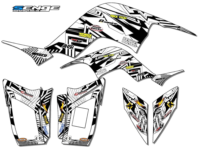 Raptor 90 Yamaha Graphics Kit Deco Stickers Atv Quad 4