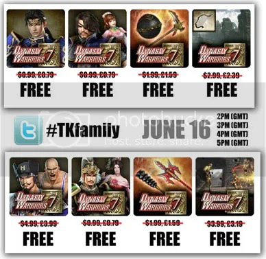 Dynasty Warriors 7 DLC giveaway