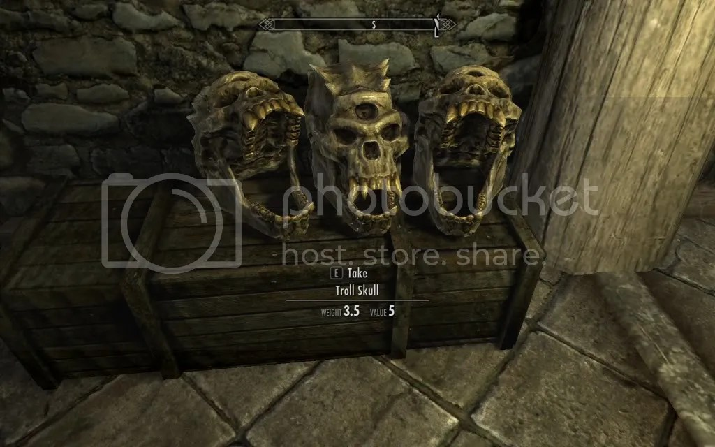 skyrim troll skull collection photo: Troll Skulls ScreenShot14.jpg