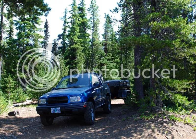 Jeep Trailer Oregon Historical Drive McKenzie Highway Santiam Wagon Trail