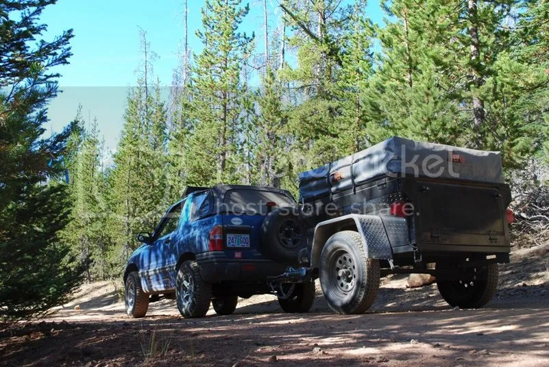 Jeep Trailer Broken Top Mountain Oregon Adventure with Compact Camping Trailers and Dinoot Trailers 4WD Trail