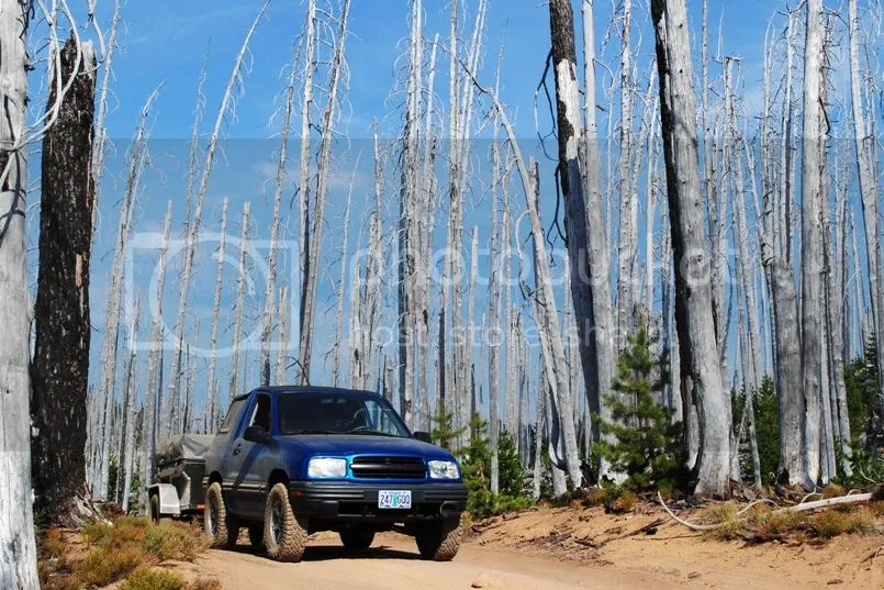Jeep Trailer Forest Road Oregon Adventure with Compact Camping Trailers and Dinoot Trailers 4WD Trail Taylor Burn Waldo Lake