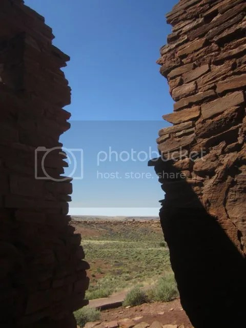 Wupatki: View from The Citadel.2 photo Wupatkicleft2_zps1b01b814.jpg
