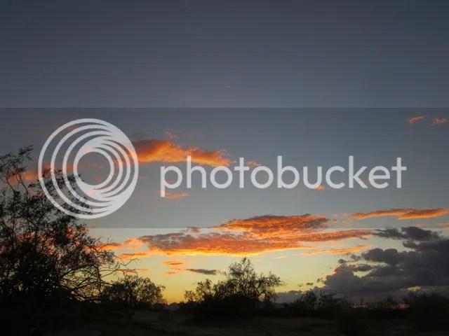 Desert sky ablaze