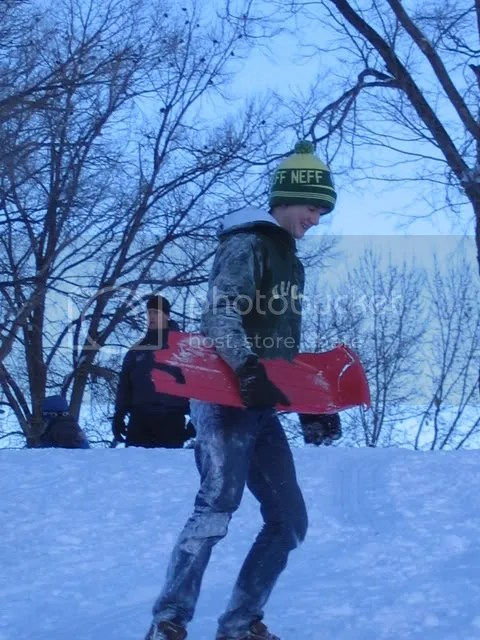 Gordon found a broken sled and rallied it a few times