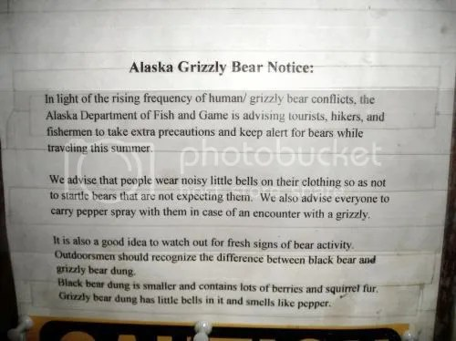 Bear Warning in Alaska