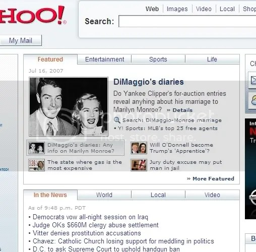 Yahoo TYPO