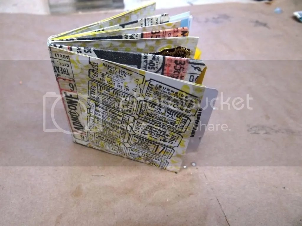 Handmade Book Using Scrapbook Paper