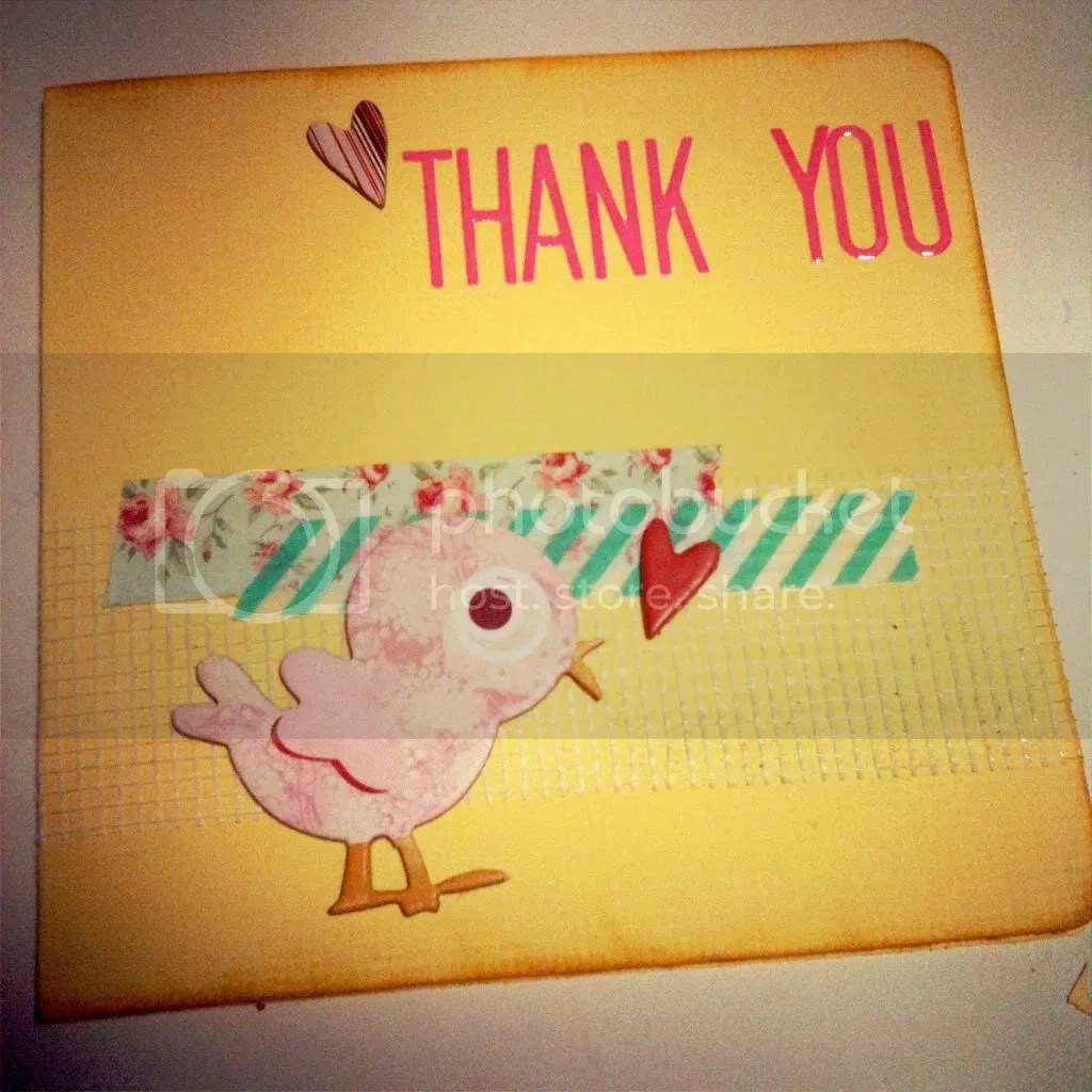 Washi Tape Thank You Card