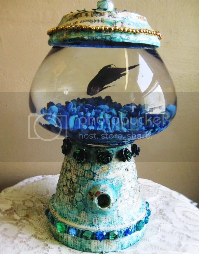 diy bubble gum machine fish bowl
