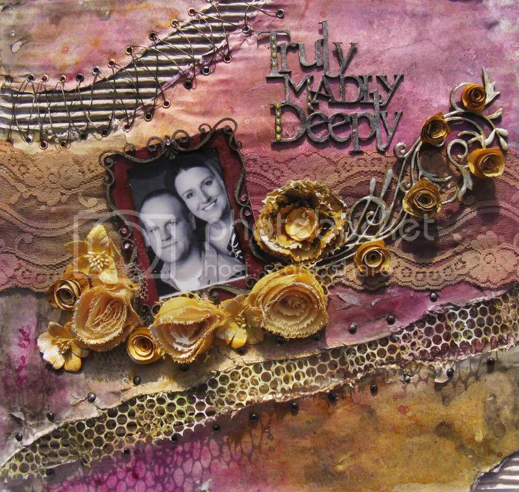 Romantic Mixed Media Scrapbook Layout
