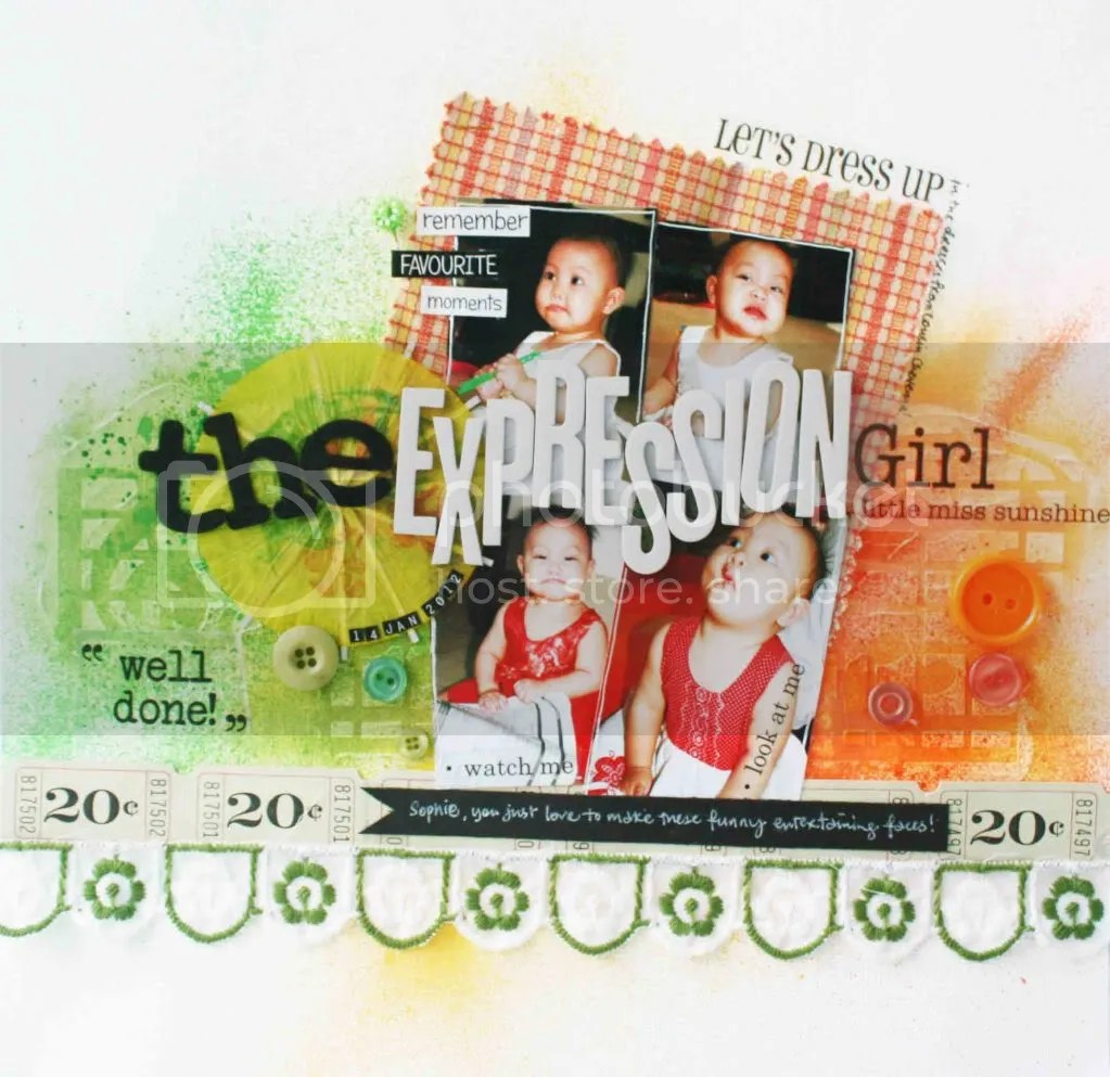 Scrapbook Layout Mixed Media