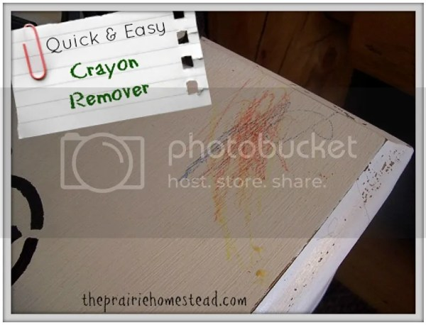 Brand New Mom Hacks to save your sanity! An all natural way to clean off crayon!