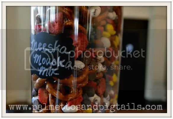 Meeska Mouska Mix...the perfect snack for Disney World, from Palmettos and Pigtails
