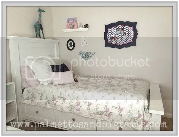 Girls' Bedroom Reveal-Functional and Pretty in a Small Space