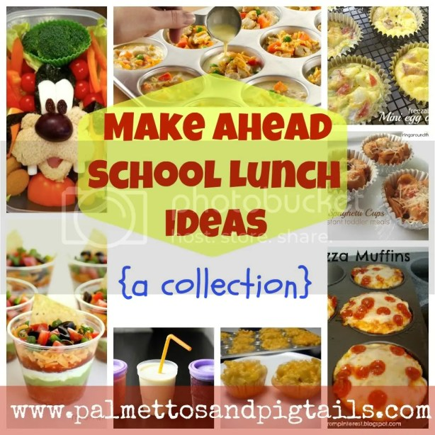 A round up of peanut-free make ahead school lunch ideas from Palmettos and Pigtails