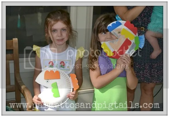 Fish Craft at our #TheLittleMermaid birthday party #shop #cbias #DisneyPrincessPlay