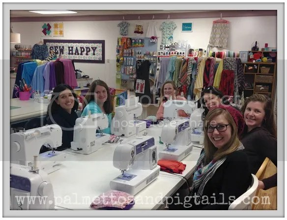 Girls Night Out at Five Eighth Seams - Palmettos and Pigtails
