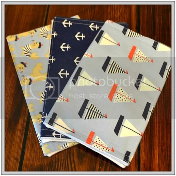 Because All Babies Puke: Why Burpcloths are Essential and a sneak peek at the new fabrics in my shop! Nautical Burpcloths