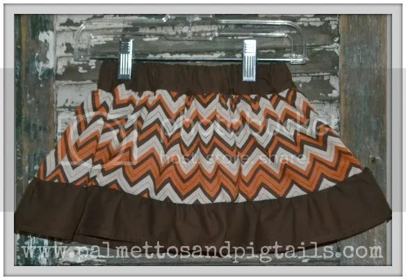 Fall Twirly Skirt from Palmettos and Pigtails