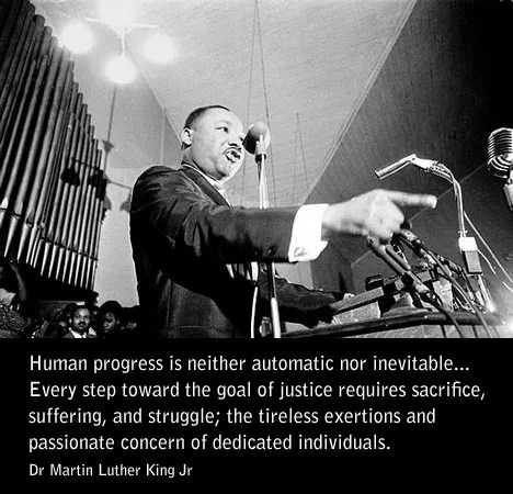 Martin Luther King Day: Quote on Life, Goals, Passion and Progression