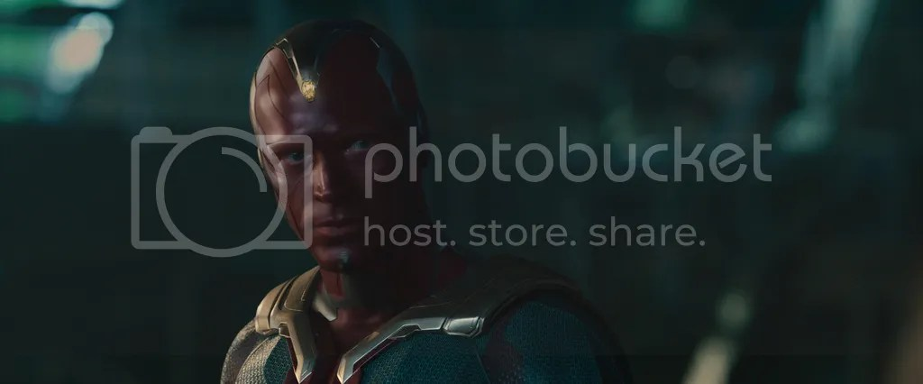 Paul Bettany stars as Vision, in Avengers: Age of Ultron.