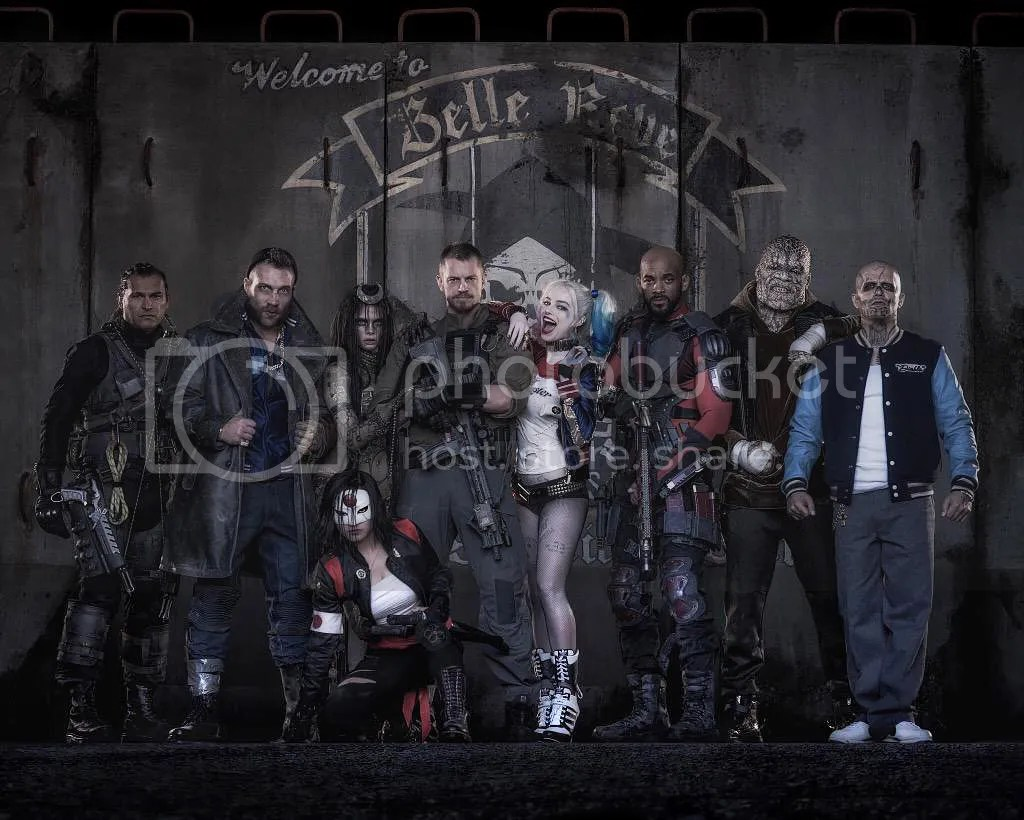 A group shot of the Suicide Squad.