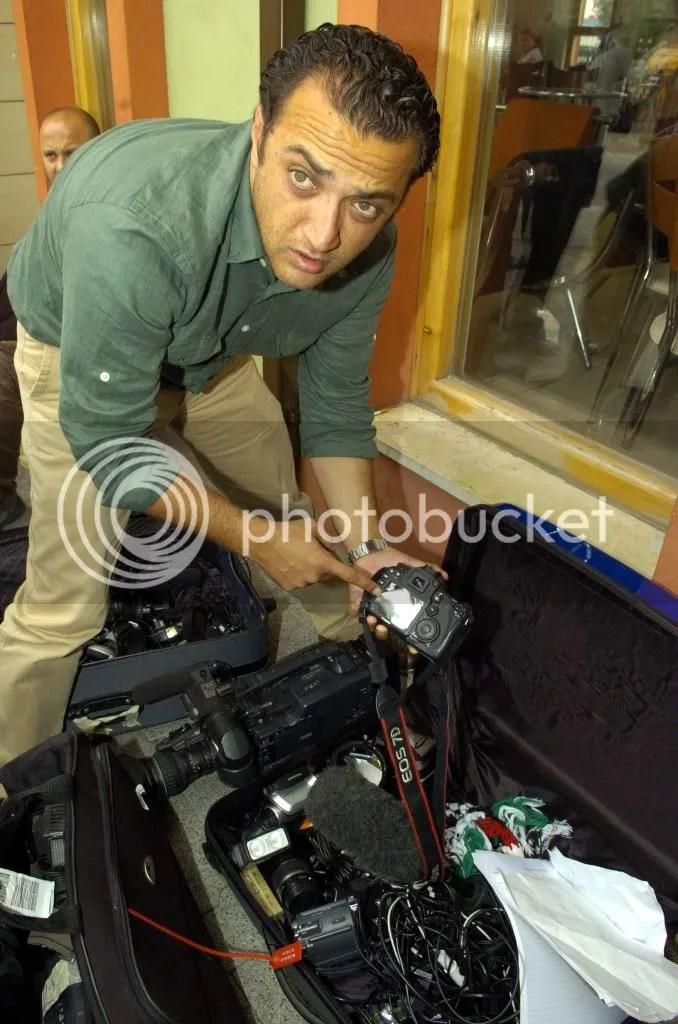 Vandalised cameras
