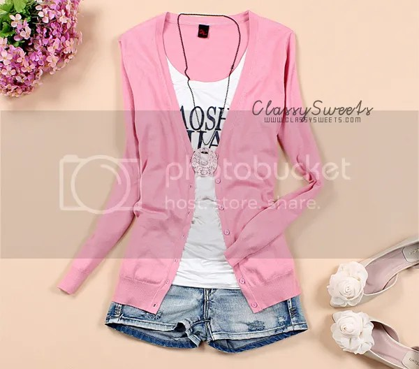 AhaIshopping: Sweet School Style Knitted Cardigan