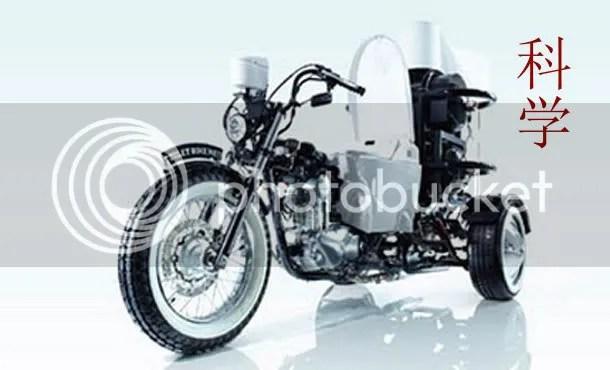 Emberi urulék maghajtasu motorbicikli