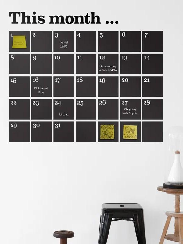 Calendario vinilo de pared