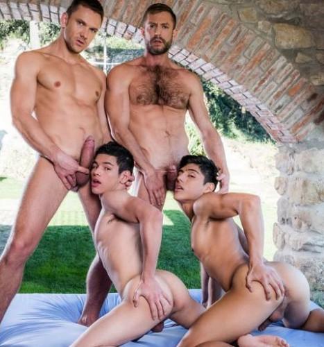 Four-Way Fag Breeding: Andrey, Bulrog, Ricky & Ken
