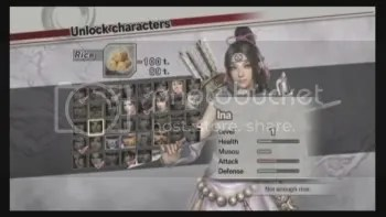 Samurai Warriors 3 English Screen