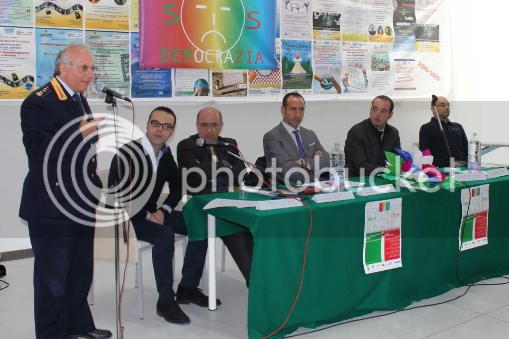 Una foto del Comandante Novara durante una manifestazione sulla legalità organizzata da SOS Democrazia