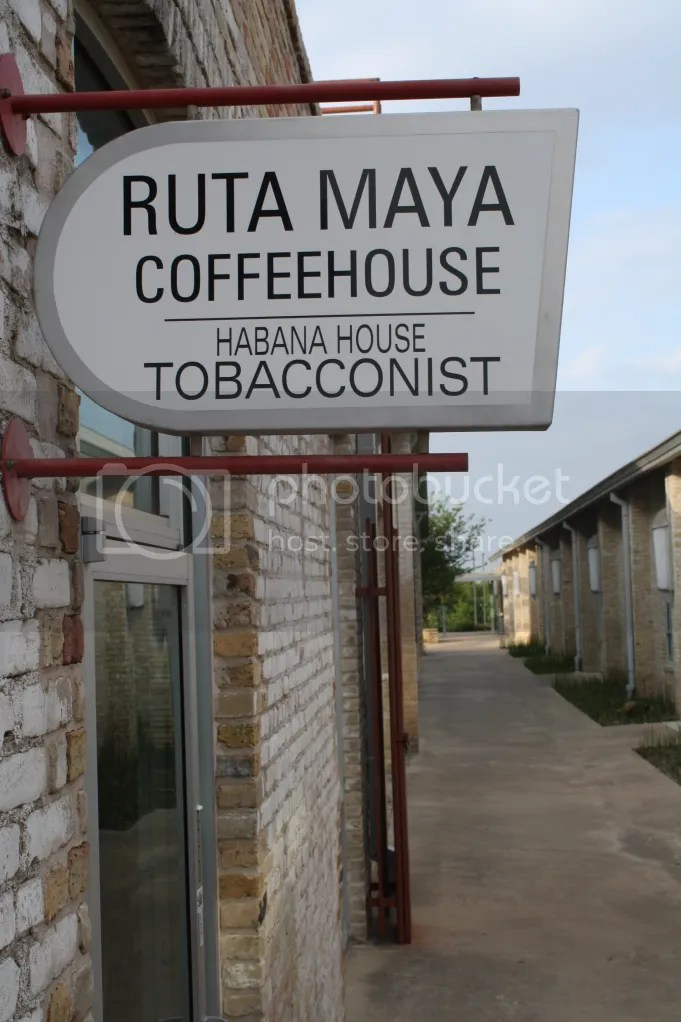 Ruta Maya is hidden up on a hill in this awesome brick building.