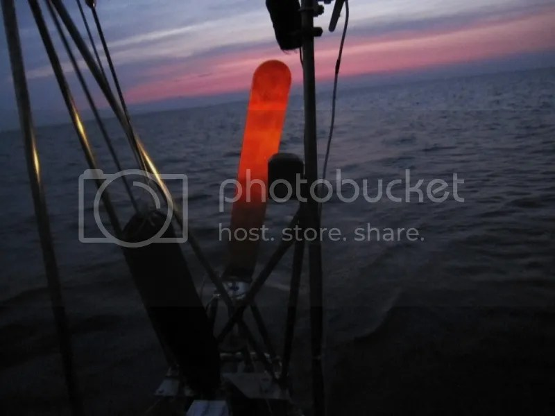 Using the windvane near unlit structures at night