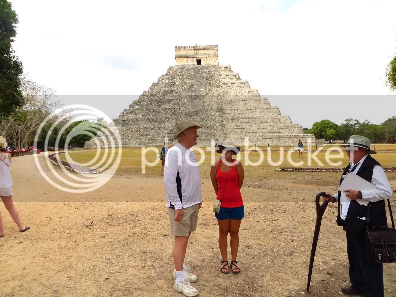 Chichen Itza Temple with Logan and Dani