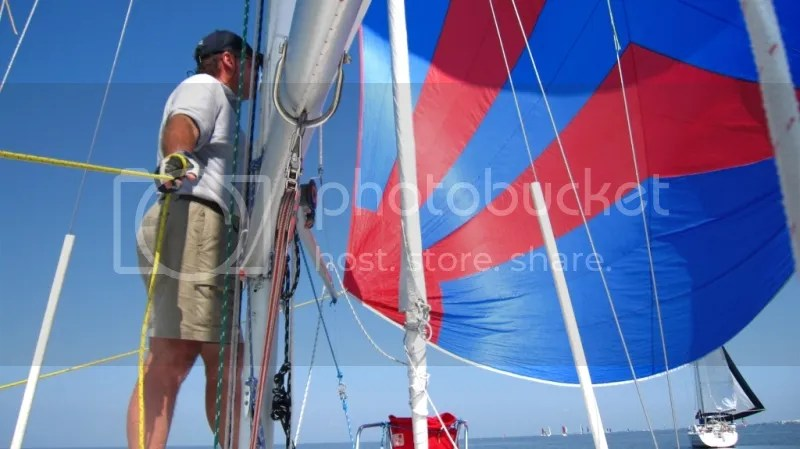 Flying Spinnaker during Great Lake Race