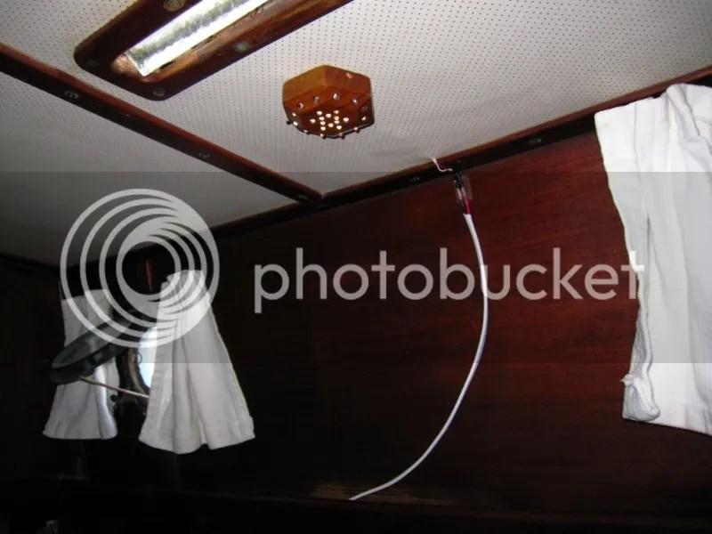 Dinette table lighting installed