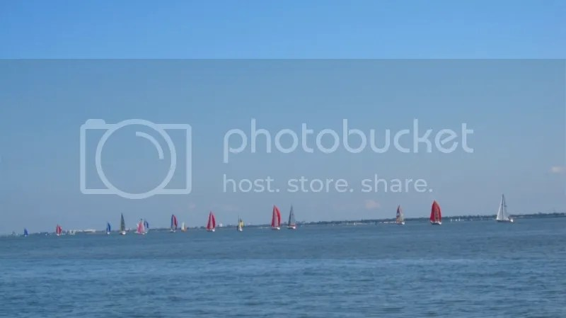 Spinnaker boats during Great Lake Race