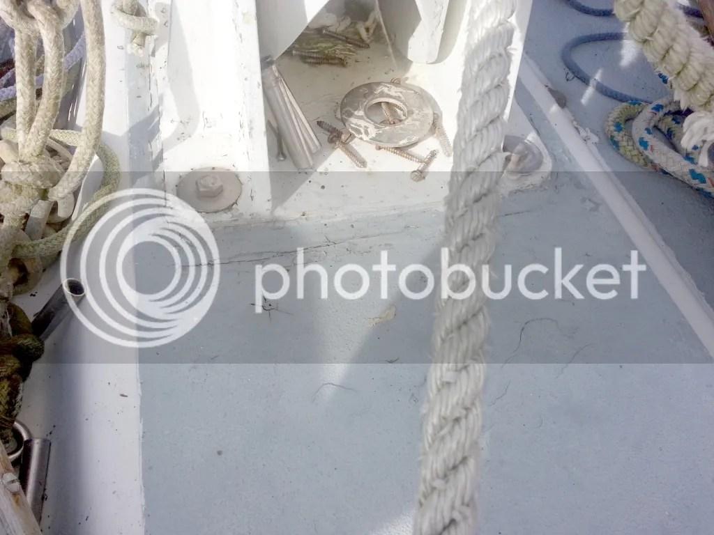 Closeup of the mast step
