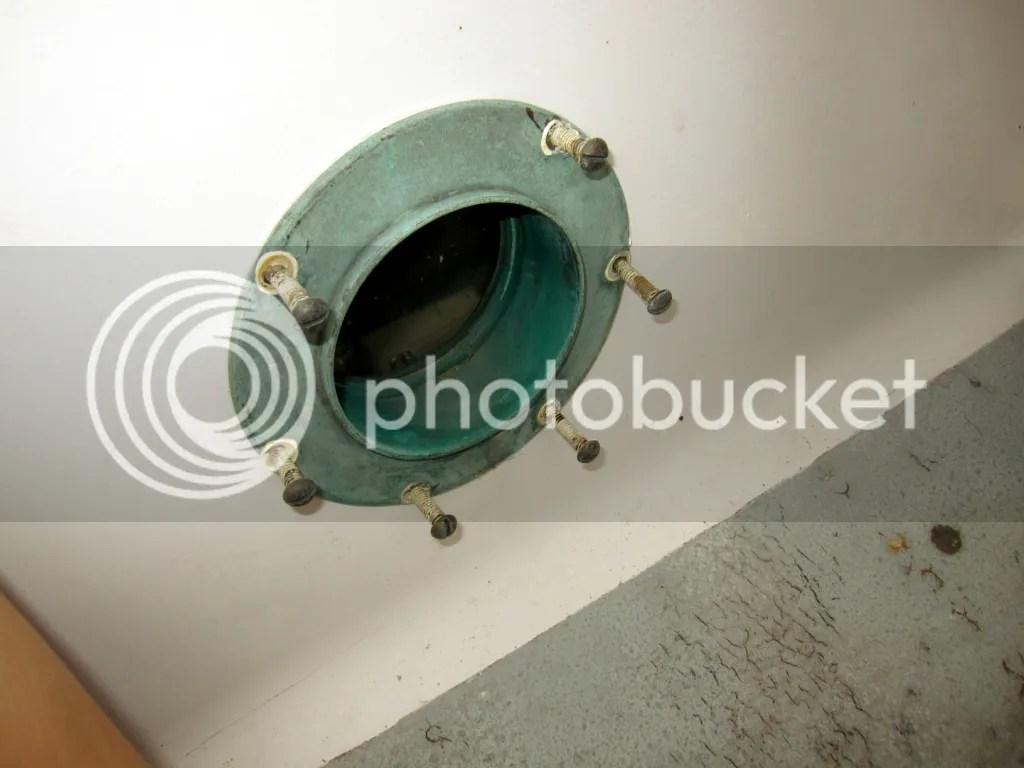 Portlight screw outside holes caulked