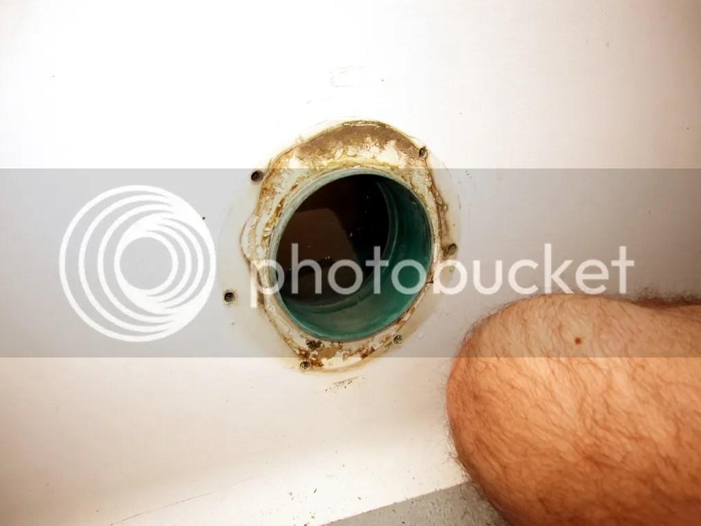 Portlight screw inside holes not caulked