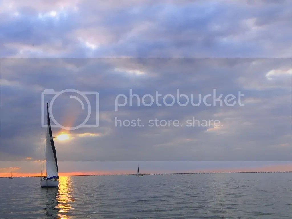 Sunset out on Lake Pontchartrain