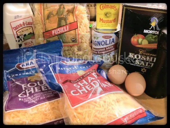 Slow cooker mac and cheese ingredients