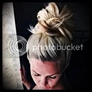The Messy Bun Top Knot Hairdo